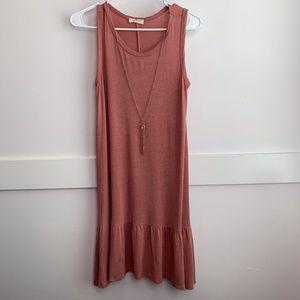 Pinc Dusty Rose Sleeveless Tunic/Mini Dress